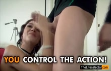 Delicate babe getting her cunt banged really hard