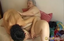 Old couples have sex and fun with toys