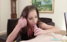 MILF loves giving best deepthroat blowjob