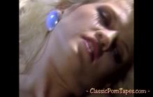 Vintage porn starring a lustful blonde vixen