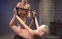 Bondage loving sexy blondie