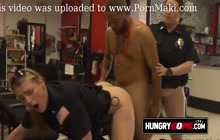 Get a haircut at the barbershop where these TWO Horny MILFs get Fucked by Black Dicks in Doggystyle