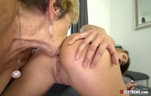 Lara West and Malya muffdiving and rimming