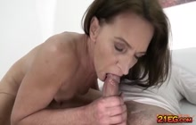 Small Tits grandma gets her cunt ravished