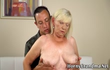 Grandma slut sucking and riding