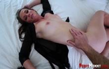 Pretty stepmom pov rides cock